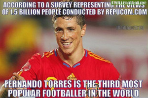Fernando Torres is the 3rd most popular footballer right now after ...