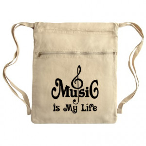Band Gifts > Band Bags & Totes > Music Is My Life Quote Cinch Sack