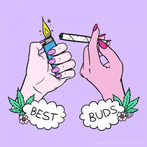 best friends, girls, smoke, weed, best buds