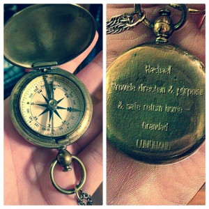 love this and the story behind this Compass Necklace. Most ...