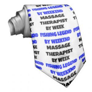 Fishing Legend Massage Therapist Necktie