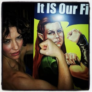 Evangeline Lilly supported our efforts for a 5 Army Solution with an ...