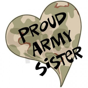 Proud Army Sister Sticker...