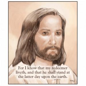 Sepia Jesus Art Bible Quote - Job 19:25 Photo Cutouts
