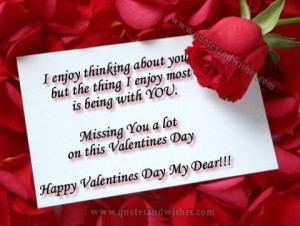 Valentines Day quotes 2013. Missing you Valentines day picture quotes ...