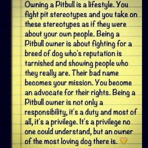 Love My Pitbull Quotes Pitbull love dog owners bsl