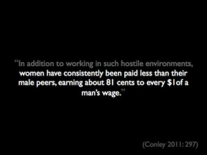 Quote About Women Making Less Money Than Men Repeated with first half ...