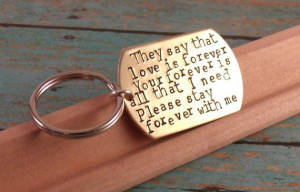 Love quotes KeychainPerfect Gift for a Grooms Wedding by Namedrops, $ ...