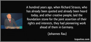 Quotes by Johannes Rau