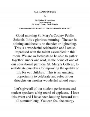 Principal 6th Grade Graduation Speech