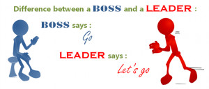 But we must know that Leadership cannot be demanded – only earned ...