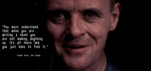 Hannibal Lecter, Quote from Red Dragon by NicIsTheDoctor