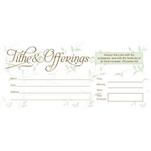 Tithe & Offerings Envelopes (Proverbs 3:9) (Box of 52)