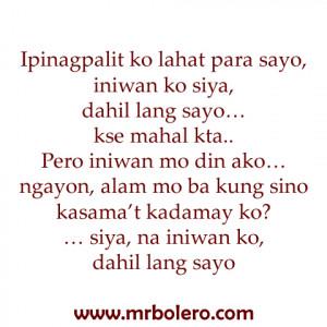 Super Sad Love Tagalog Quotes