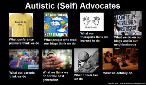 Autistic (Self) Advocates: What People Think We Do