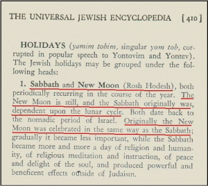 Sabbath and New Moon (Rosh Hodesh), both periodically recur in the ...