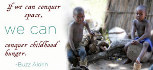 Human Rights - Quotes on Hunger - Buzz Aldrin - human-rights Photo