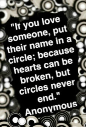 Circles never end