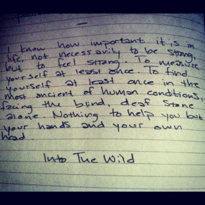 ... Into The Wild Movie Quotes, Quotes Ever Into, Favorite Quotes, Book