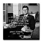 Humanist John F. Kennedy Tile Coaster