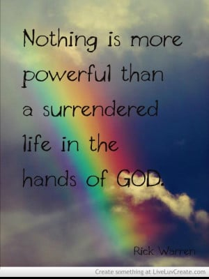 Rick Warren quote about surrender