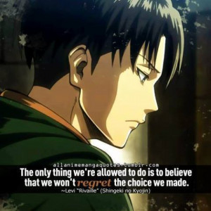 Anime quotes Attack on titan Levi