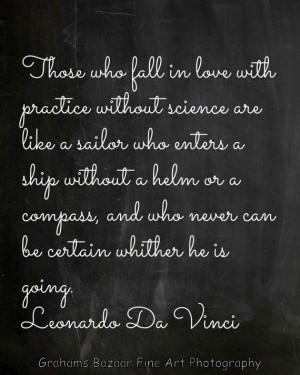Leonardo Da Vinci Love Quote 8x10 Chalkboard Print Valentine's Day ...