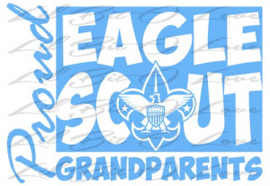 Proud Eagle Scout Grandparents Vinyl Decal sticker Boy Scouts BSA