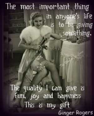 Ginger Rogers quote