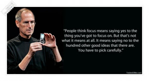Steve Jobs Quotes On Focus