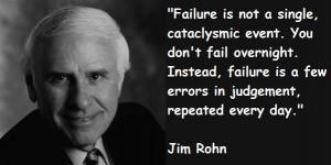 Jim Rohn on failure