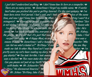 glee brittany quotes glee fan art 25528347 fanpop