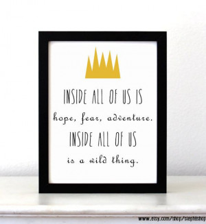 WILD THING! Where The Wild Things Are Inspired movie Quote art Print ...