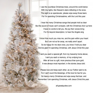 Memorial Cards For Christmas – I see the countless Christmas trees ...