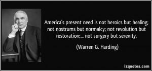 More Warren G. Harding Quotes