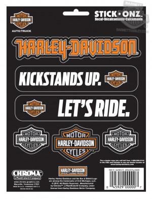 CG9657 - Harley-Davidson® Multiple Sayings with Bar & Shield Decal