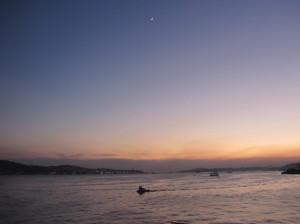 Looking toward the Asian side of Istanbul at dusk. © Jetsetunemployed ...