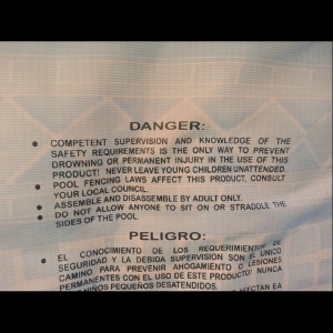 Best thing about this DANGER label is the first word. Wish more people ...