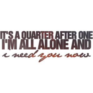 need you know; lady antebellum lyrics - made by ℓaicey ♥