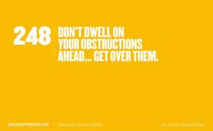 Get over it...