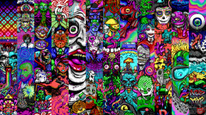 acid trippy eyes
