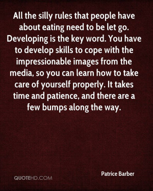 All the silly rules that people have about eating need to be let go ...