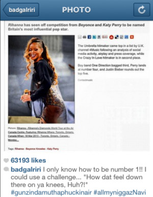Full caption from Rihanna's Instagram post