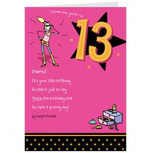 Posing Purple Ronnie 13th Birthday Card-Hallmark UK