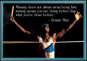 Bonnie Blair Great Sayings winning