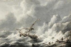 Stormy Ships at Sea