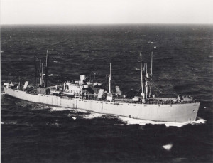 Asa Gray on November 14th 1943 in convoy off the coast off North