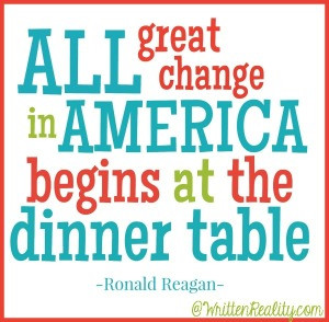 Dinner Table Reagan Quote