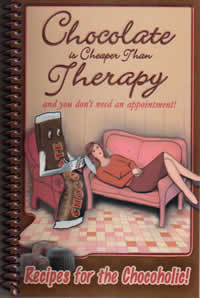 Chocolate Is Cheaper than Therapy with original cover.