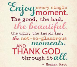 life coaching lessons and quotes - be thankful and enjoy life - image ...